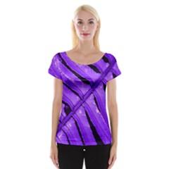 Purple Fern Women s Cap Sleeve Top