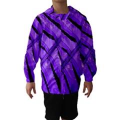 Purple Fern Hooded Wind Breaker (Kids)