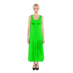 Cool Green Full Print Maxi Dress