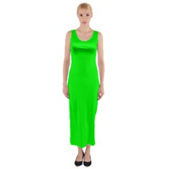 Cool Green Fitted Maxi Dress