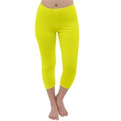 Beautiful Yellow Capri Winter Leggings