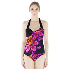 Lantanas Women s Halter One Piece Swimsuit