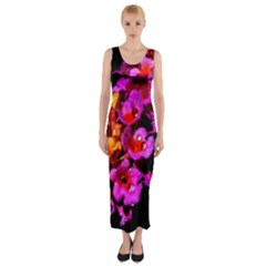 Lantanas Fitted Maxi Dress