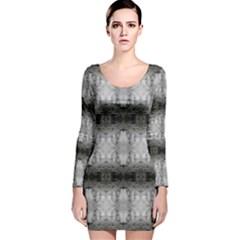 Lit0110002013 Long Sleeve Velvet Bodycon Dress