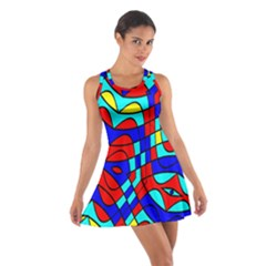 Colorful bent shapes Cotton Racerback Dress