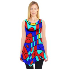 Colorful Bent Shapes Sleeveless Tunic