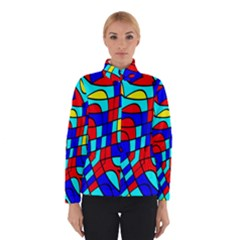 Colorful Bent Shapes Winter Jacket