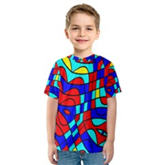 Colorful bent shapes Kid s Sport Mesh Tee