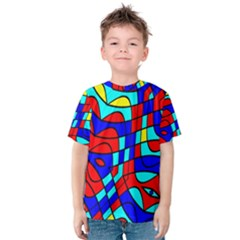 Colorful bent shapes Kid s Cotton Tee
