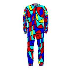 Colorful Bent Shapes Onepiece Jumpsuit (kids)