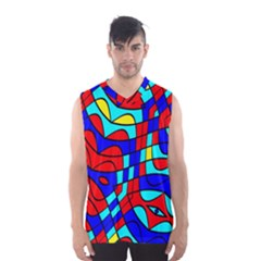 Colorful Bent Shapes Men s Basketball Tank Top