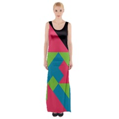 Angles Maxi Thigh Split Dress