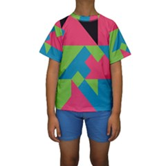 Angles  Kid s Short Sleeve Swimwear