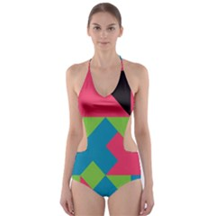Angles Cut-Out One Piece Swimsuit