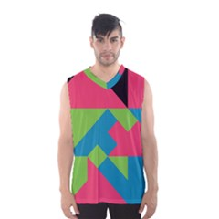 Angles Men s Basketball Tank Top