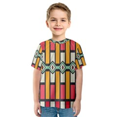 Rhombus and stripes pattern Kid s Sport Mesh Tee