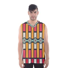 Rhombus and stripes pattern Men s Basketball Tank Top
