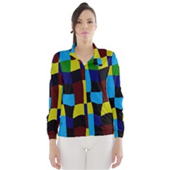 Distorted squares in retro colors Wind Breaker (Women)
