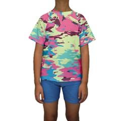 Chaos texture  Kid s Short Sleeve Swimwear