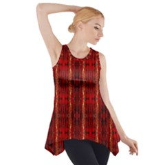 Red Gold, Old Oriental Pattern Side Drop Tank Tunic