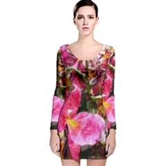 Art Studio 23216 Long Sleeve Velvet Bodycon Dress