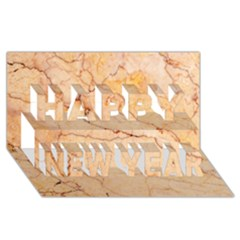 Stone Floor Marble Happy New Year 3d Greeting Card (8x4)