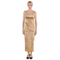 Stone Floor Marble Fitted Maxi Dress