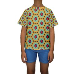 Floral pattern  Kid s Short Sleeve Swimwear