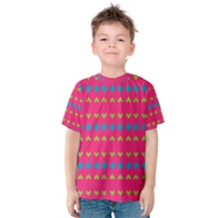 Hearts and rhombus pattern Kid s Cotton Tee