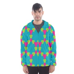 Triangles honeycombs and other shapes pattern Mesh Lined Wind Breaker (Men)