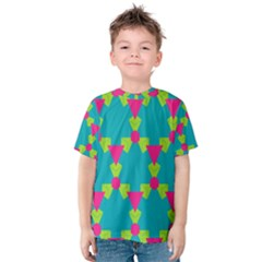 Triangles honeycombs and other shapes pattern Kid s Cotton Tee