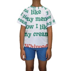 Whipped Cream Kid s Short Sleeve Swimwear