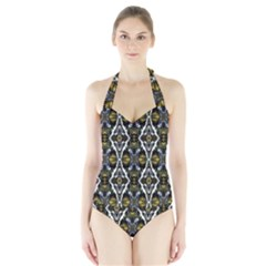 lit190215002011 Women s Halter One Piece Swimsuit