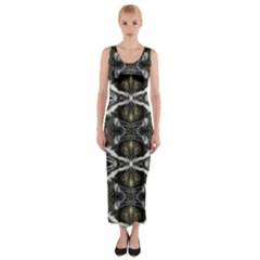 Iowa 190215002007 Fitted Maxi Dress