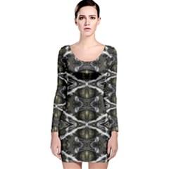 Lit190215002007 Long Sleeve Velvet Bodycon Dress