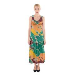 Texture in retro colors Full Print Maxi Dress