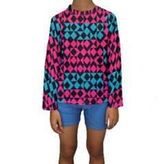 Rhombus and triangles Kid s Long Sleeve Swimwear