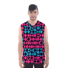 Rhombus and trianglesMen s Basketball Tank Top