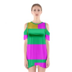 Rectangles And Other Shapes Women s Cutout Shoulder Dress