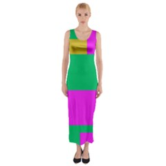 Rectangles and other shapes Fitted Maxi Dress
