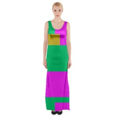Rectangles and other shapes Maxi Thigh Split Dress
