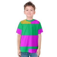 Rectangles and other shapes Kid s Cotton Tee