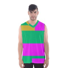 Rectangles and other shapes Men s Basketball Tank Top