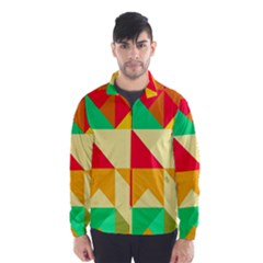 Retro colors shapes Wind Breaker (Men)