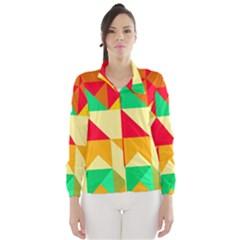 Retro colors shapes Wind Breaker (Women)