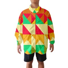 Retro colors shapes Wind Breaker (Kids)