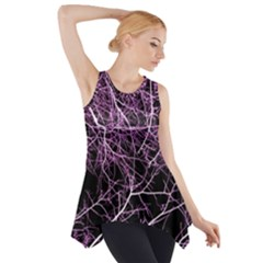 Purple Twigs Side Drop Tank Tunic