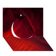 Red Abstract Circle 3d Greeting Card (7x5)