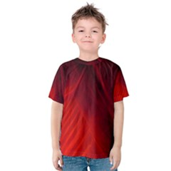 Red Abstract Kid s Cotton Tee
