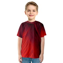 Red Abstract Kid s Sport Mesh Tee